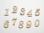 並んだ木製の数字