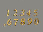 並んだ数字のプレート