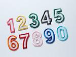 並んだ数字のアップリケ