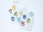 数字のクリップとメモ用紙