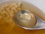 スープに浮かぶ数字のマカロニ