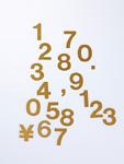 数字のプレート