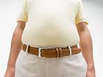 太った男性の腹部