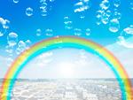 シャボン玉と虹