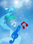 青空と音符