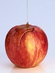 蜂蜜がかけられているリンゴ