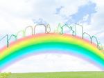 虹と町並のイメージ