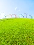 草原の上の町並