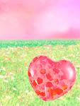 花畑とハート