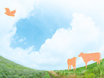 草原にいる動物イメージ