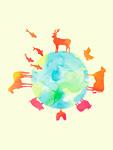 地球に住む動物イメージ