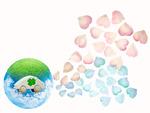 花びらを排気するエコカーイメージ