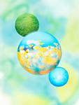 エコロジーイメージの球体