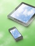 青空の画面のスマートメディア