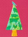 動物のシルエットのクリスマスツリー