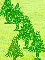 動物のシルエットの森林イメージ