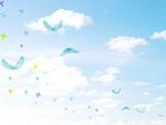 青空を羽ばたく鳥