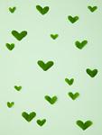 ハート柄の葉(エコロジーイメージ)