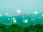 風力発電機と光