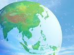 地球とシャボン玉のイメージ