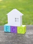 ecoのブロックと家のミニチュア