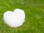 芝生と毛糸のハート