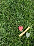 芝生とハートの%マーク