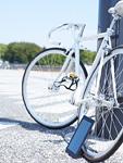 自転車とタブレットPC