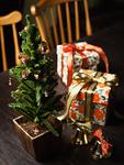 クリスマスツリーとギフトボックス