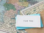 メッセージカードと地図