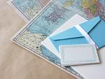 レターセットと地図