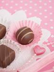 ピンクの水玉とチョコレート