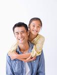 笑顔の父娘