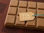 板チョコとメッセージタグ