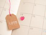 バレンタインに印がついたスケジュール帳