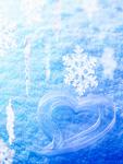 雪の結晶とハート(CG)