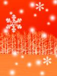 木立と雪(CG)