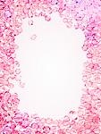 ピンクのクリスタルガラス