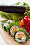 七種類の野菜を巻いたベジ恵方巻き