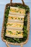 ふわふわ玉子の春野菜サンドイッチ