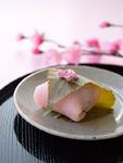 桜餅と桃の花