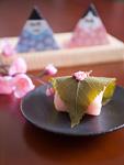 桜餅とひな人形