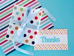ギフトボックスとメッセージカード