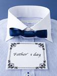 ワイシャツと蝶ネクタイと父の日のメッセージカード