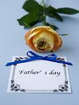 バラと父の日のメッセージカード
