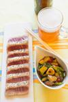 マグロのステーキ 甘辛野菜ソース