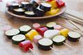 タイトル:彩り野菜串し