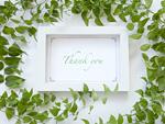 葉とメッセージカード