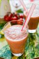 タイトル:バジル香るトマトのスムージー