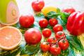 タイトル:トマトスムージーの食材